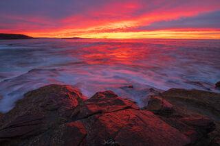 Red Sunrise on the Coast