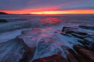Acadia's Rugged Coastline at Sunrise