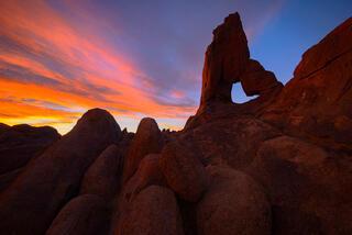 Boot Arch winter sunrise.