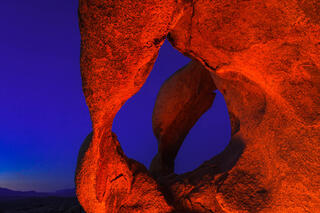 Cyclops Arch at twilight.