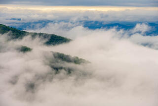 Layers of fog and riges from Skyline Drive.