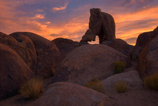Lady Boot Arch at sunrise.