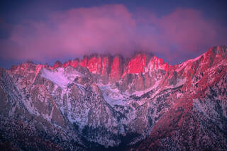 Mount Whitney Alpenglow