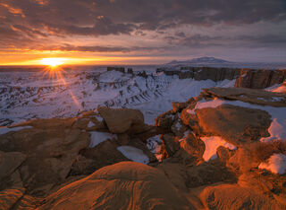 Skyline Winter Sunrise