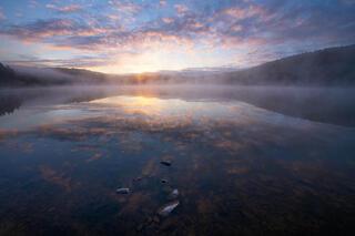 Sunrise Reflections on Spruce Knob Lake.