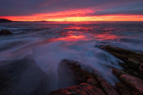 Breaking Waves at Sunrise