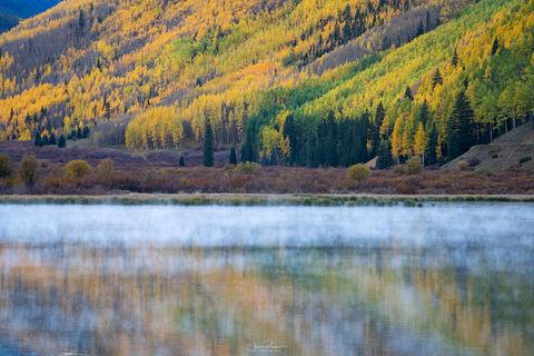 Crystal Lake Autumn Reflection