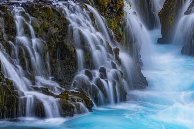 Bruarfoss Waterfall photographic prints for sale.