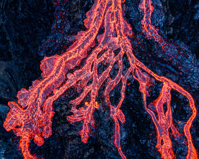 Fagradalsfjall Volcano molten lava abstract photography from Iceland.