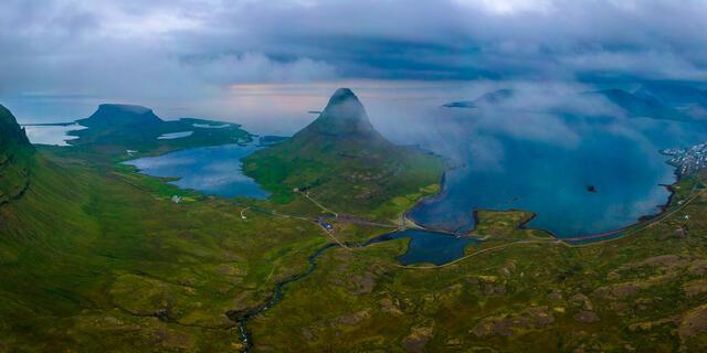 Ariel landscape photographic print of the Snæfellsnes Peninsula, Iceland.