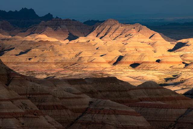Badlands Light And Shadow