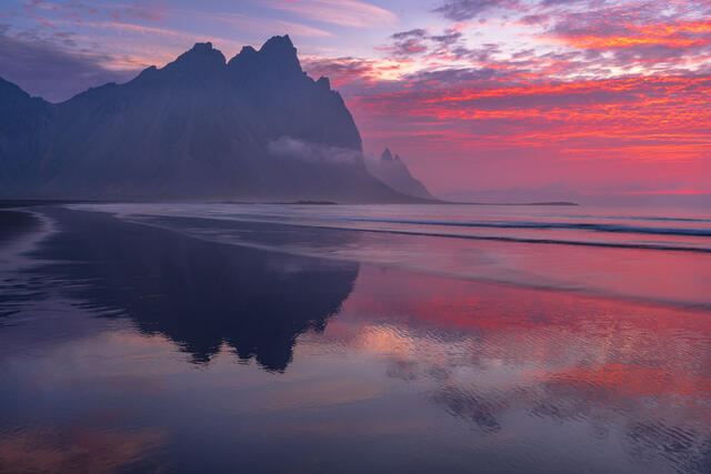Vesterhorn Mountain sunrise, Southeast Iceland fine art print.