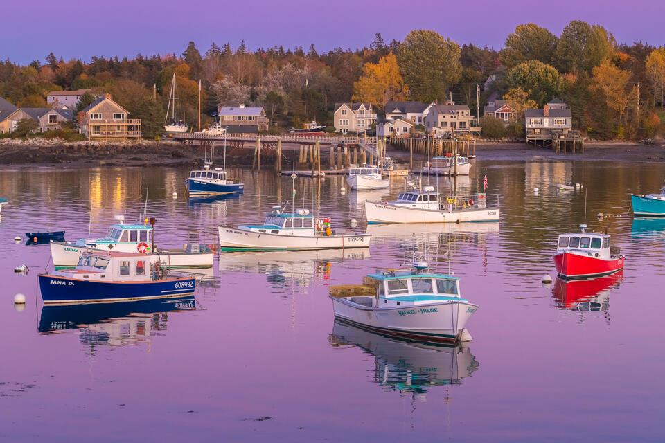 Bass Harbor Twilight