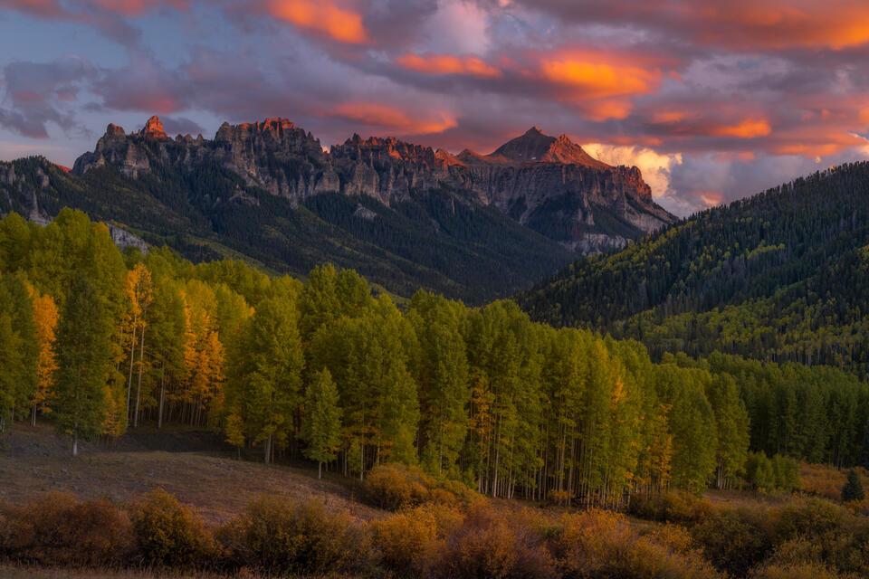 Cimmaron Mountains Autumn Sunset