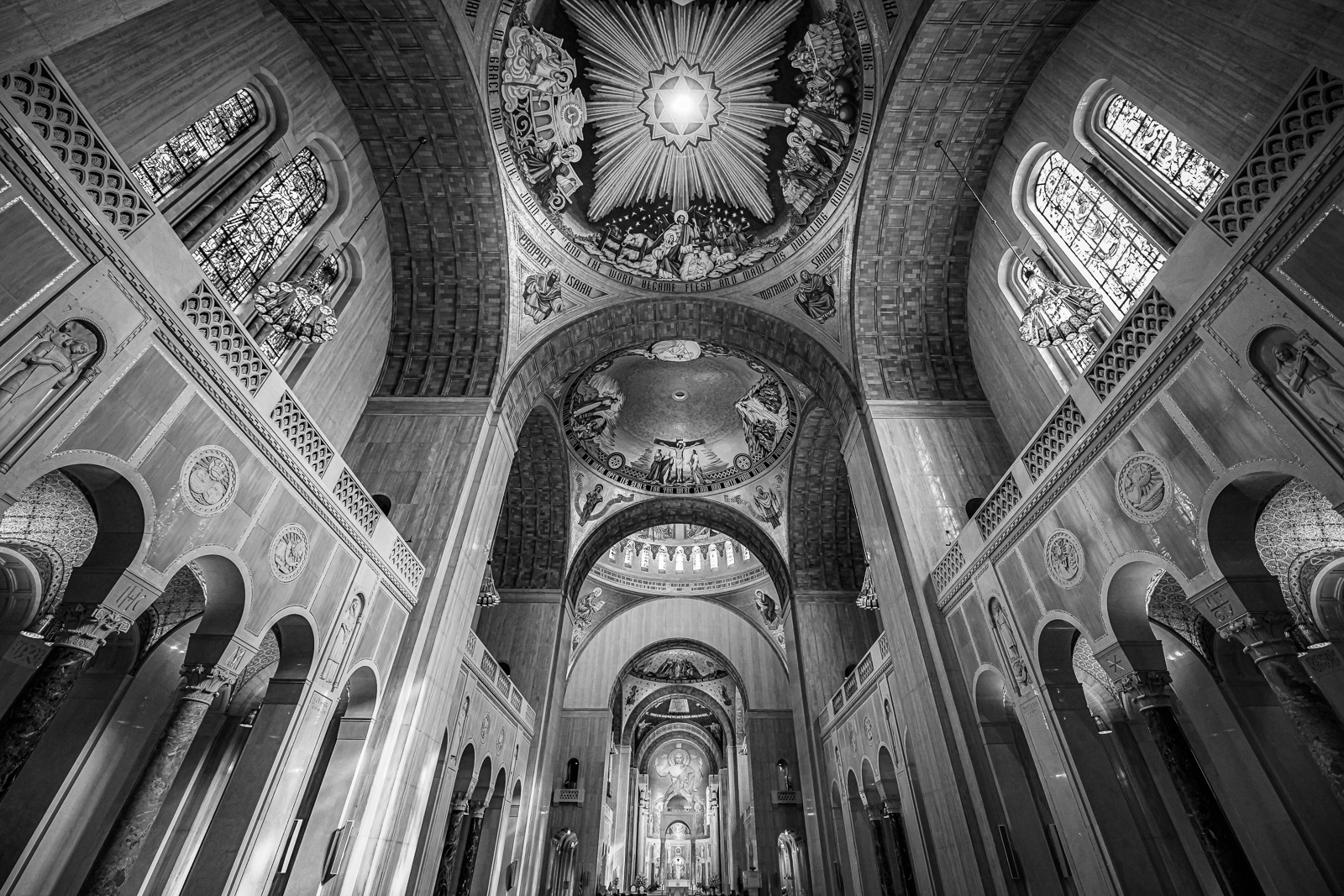 Interior detail of the The Basilica of the National Shrine of the Immaculate Conception, Washington, D.C.