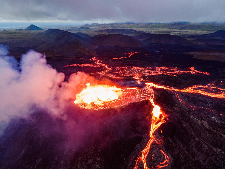 Fagradalsfjall Volcano eruption fine art print for sale.