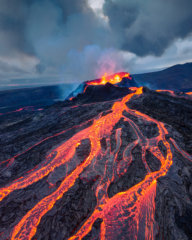 Fagradalsfjall Volcano eruption on the Reykjanes Peninsula, Iceland.