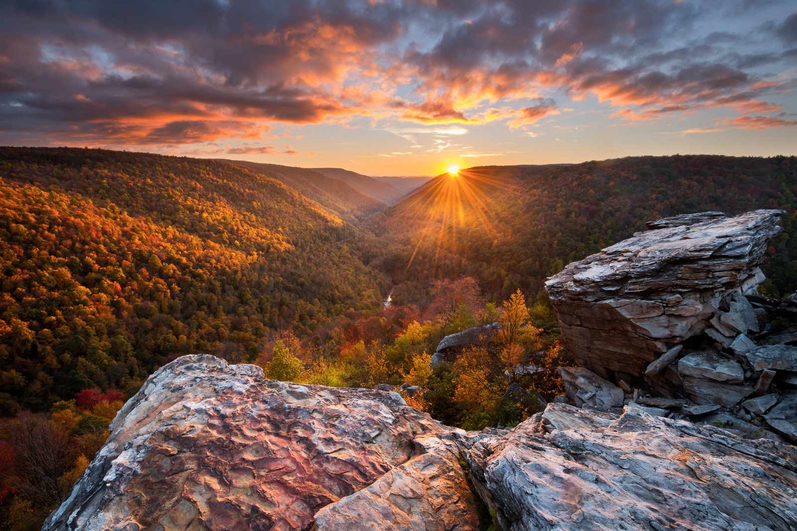 Sunset from Lindy Point, Blackwater Falls State Park, West Virginia