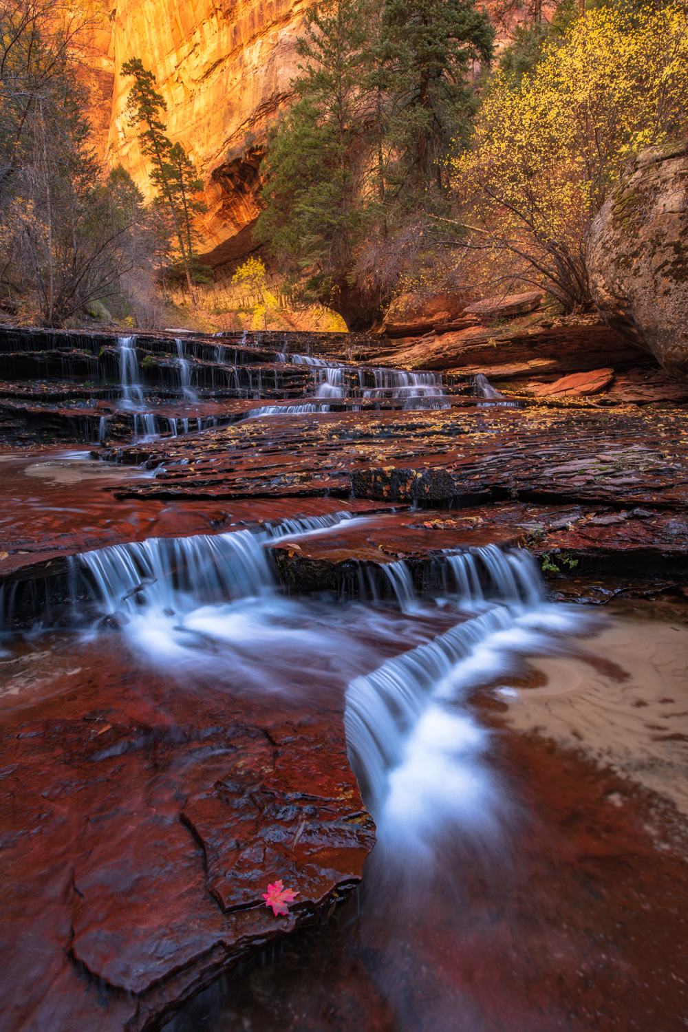 Arch Angel Falls, The Subway, Zion National Park Backcountry.