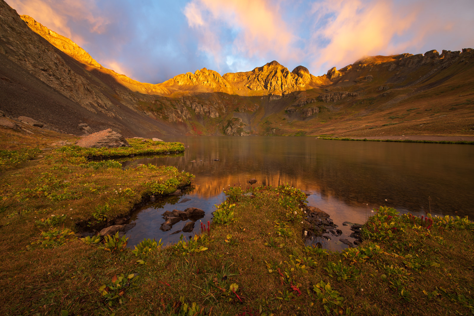 Sunrise at Clear Lake hig in the San Juan Mountains near Silverton, Colorado.Add beauty to your space with a Joseph Rossbach...