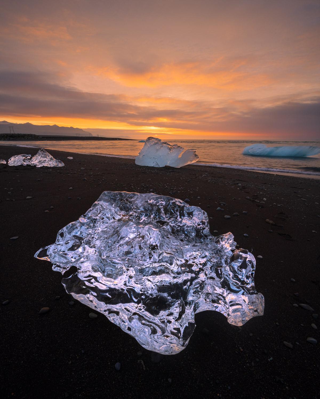 Diamond Beach, Southeast Iceland fine art photography print for sale.