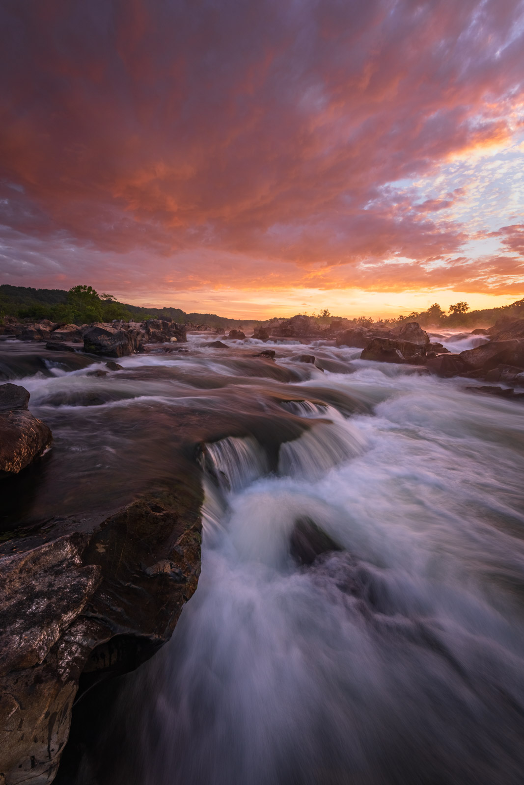 Limited Edition of 50 At Great Falls, the Potomac River builds up speed and force as it falls over a series of steep, jagged...