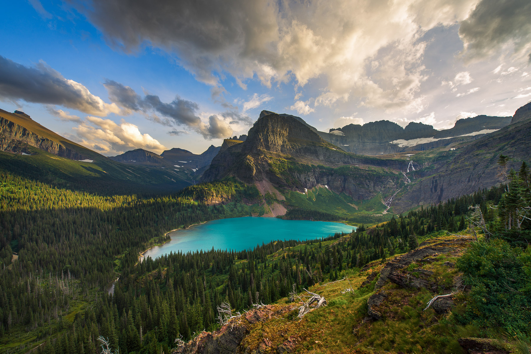 One of the most epic mountain vistas I've hiked to is along the Grinell Glacier Trail in Glacier National Park. I captured this...