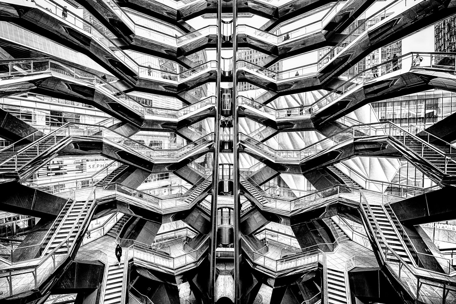 """Inside of the """"Vessel"""" at Hudson Yards, New York. Available Print Sizes: 12x18, 16x24, 20x30, 24x36, 30x45, 40x60Limited Edition..."""