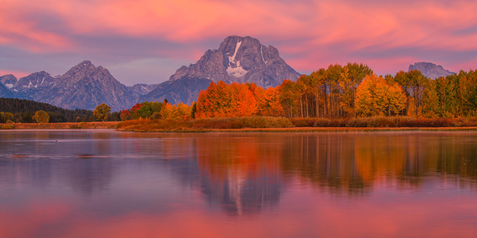 Monring reflections in Ox Bow Bend along the Snake River.Add beauty to your space with a Joseph Rossbach limited edition photography...