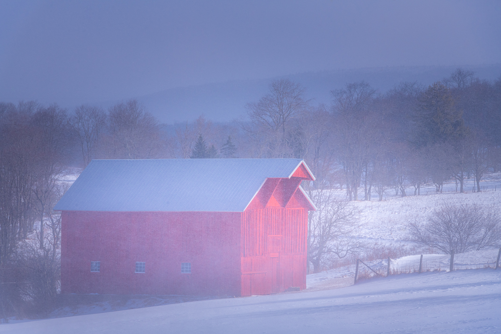 I captured this red barn during a snow storm in Canaan Valley, West Virgiina.