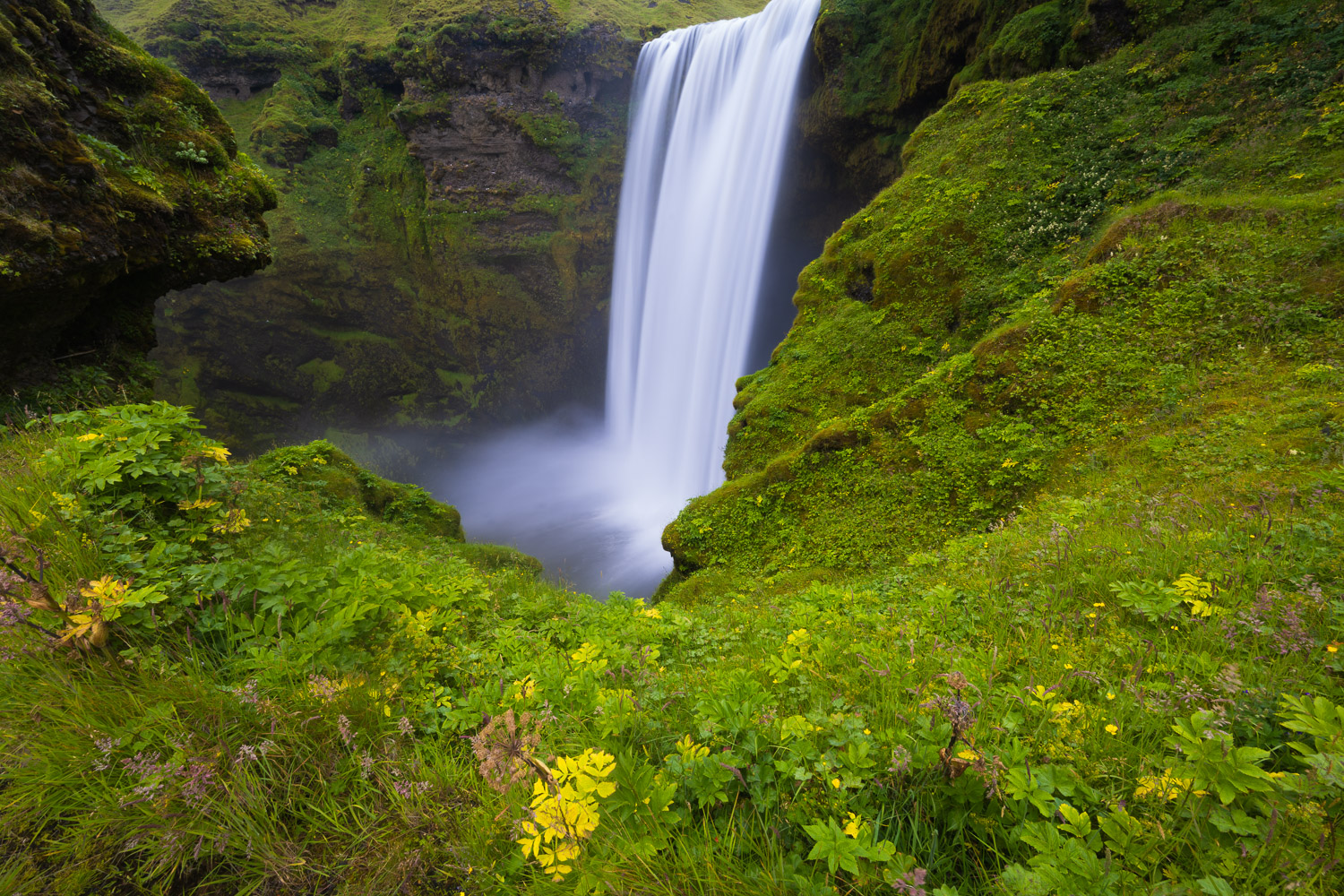 Skogafgoss waterfall in Southwest Iceland for sale as a limited edition fine art print.