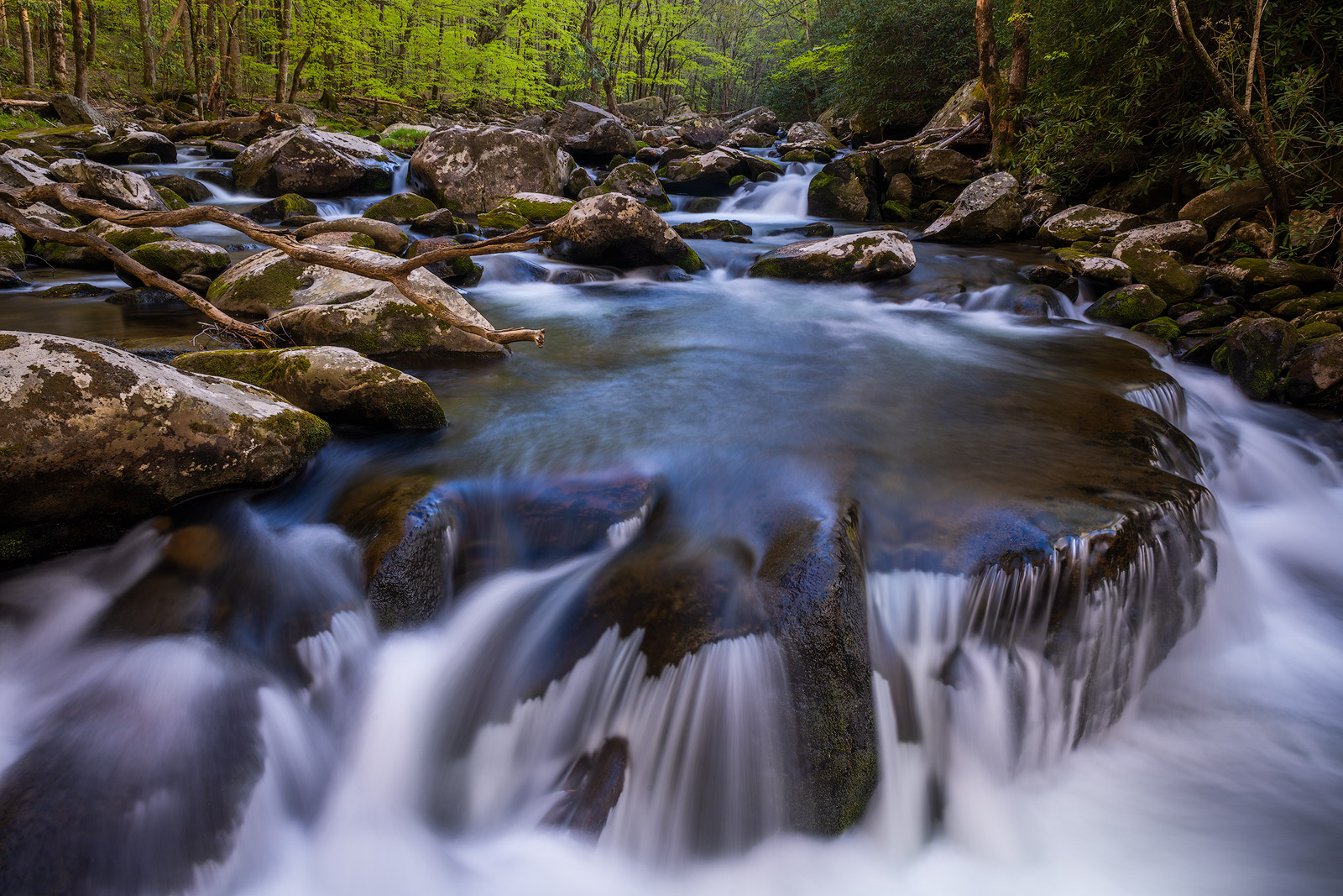 Early morning, late afternoon and on overcast days are best for photographing the many drops, cascades and waterfalls along the...