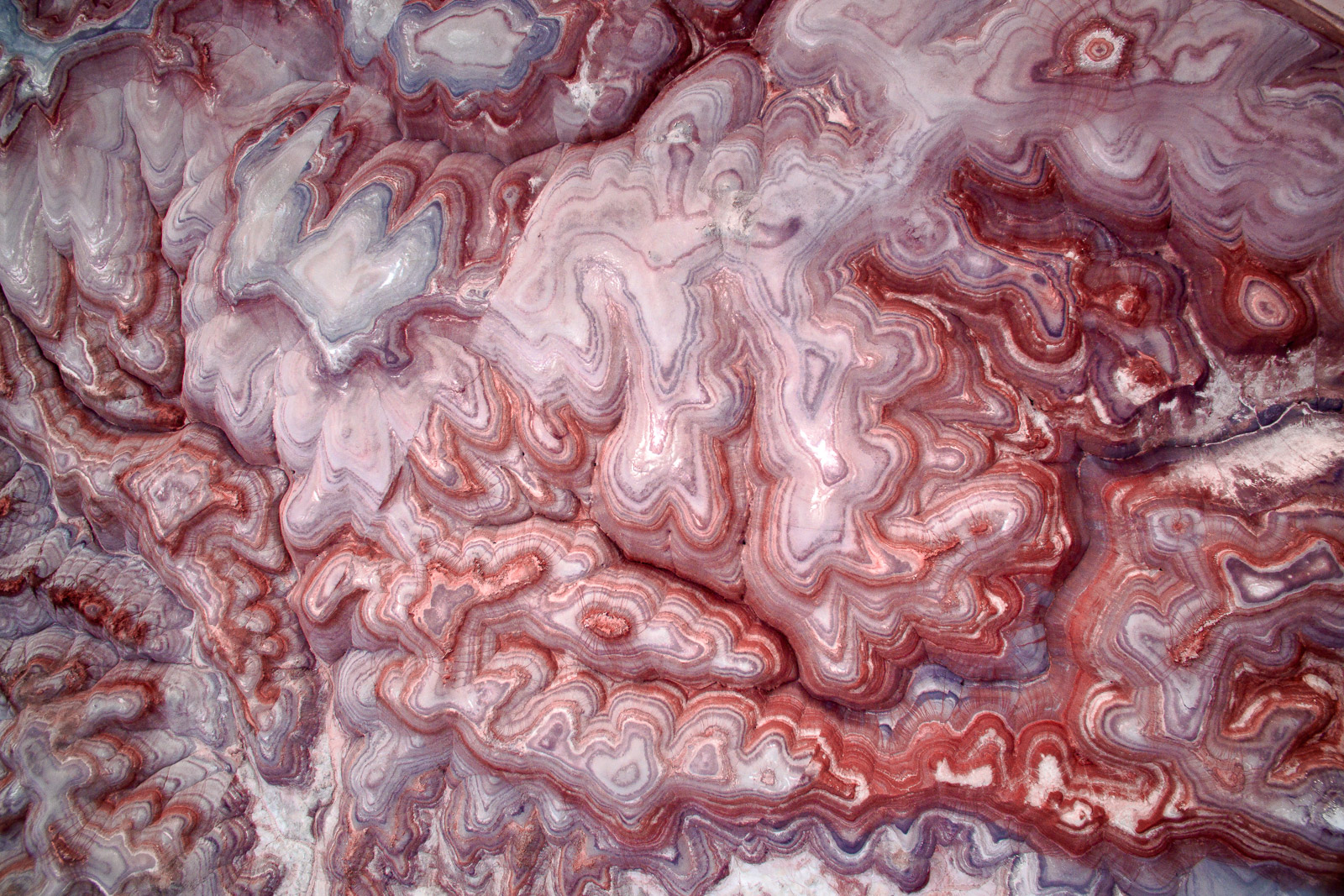 Badlands captured from above in a remote desert location outside of Hanksville, Utah.